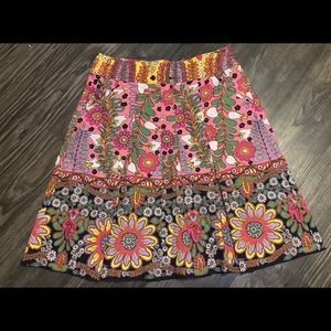 CABI floral pleaded skirt - 4